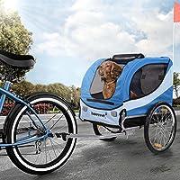 Happypet Hundeanhänger Hundetransporter Fahrradanhänger Hunde Fahrrad Anhänger Regenschutz inkl. Anhängerkupplung Regenschutz Farbwahl