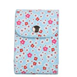 [Fujifilm Instax Mini Photo Collecting Case] -Woodmin Floral PU Leather Storage Bag for 3 Inches Photos, Films and Instax Mini Close-up Lens (Blue
