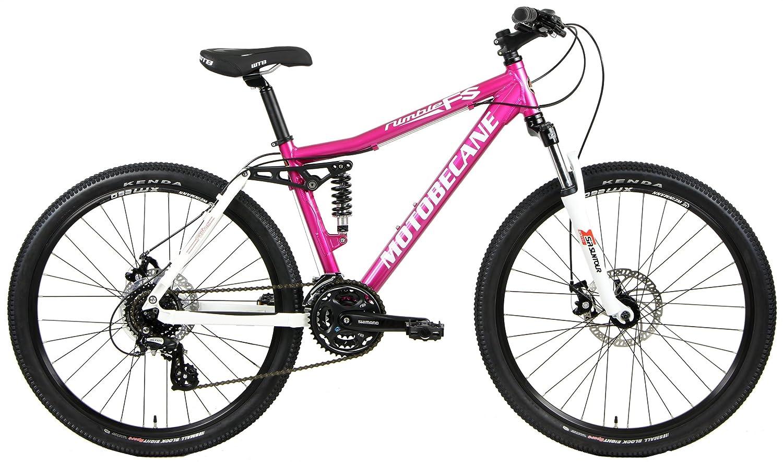 cc28b1a8022 Amazon.com : Motobecane 2018 Nimble FS Full Shimano 24 Speed Dual Suspension  Women's Mountain Bike with Disc Brakes : Sports & Outdoors