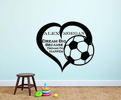 Astounding Amazon Com Alex Morgan Wall Decals For Kids Bedrooms Girls Download Free Architecture Designs Barepgrimeyleaguecom