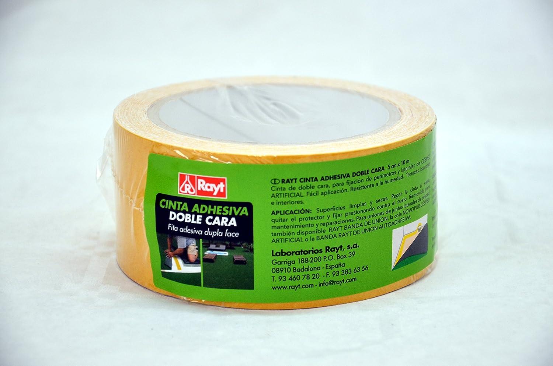 Rayt 2204-29 Cinta adhesiva de doble cara para césped artificial. Apta para interior y exterior. No deja residuos. 5cm x 10m: Amazon.es: Bricolaje y herramientas