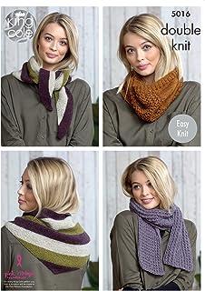 Sirdar Hayfield 7854 Knitting Pattern Womens Easy Knit Hat, Scarf
