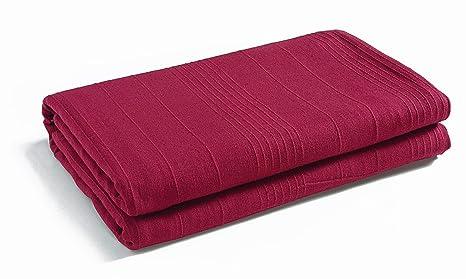 EliteHomeCollection Indian Classic - Colcha para Cama y sofá (250 x 250 cm, Incluye 2 Fundas para Cojines), Color Rojo