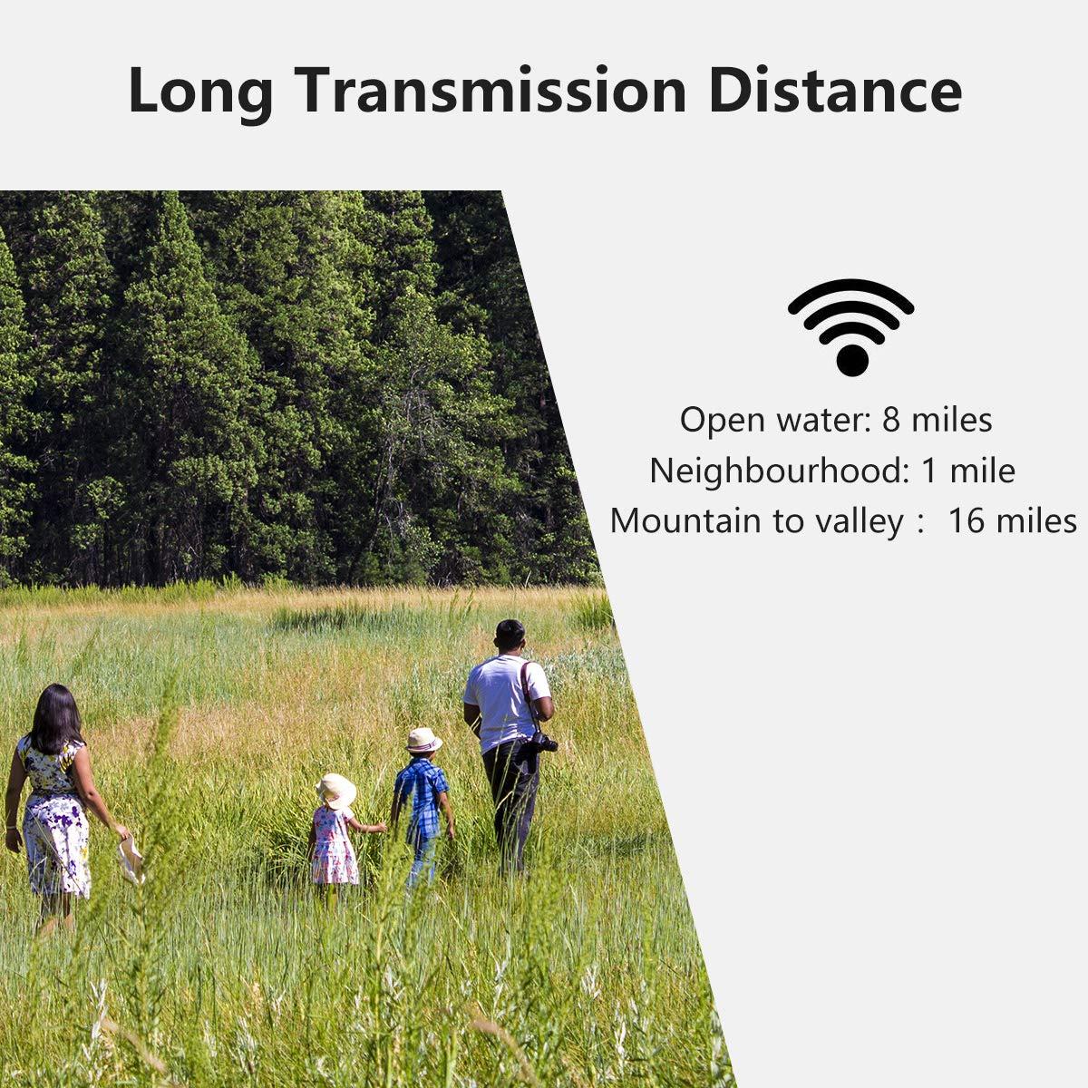 FLOUREON Talkie Walkies Enfant PMR 446 MHz 9 Canaux Interphone Bidirectionnel Longue Distance Enfants Jouets Cadeau pour Enfants Bleu