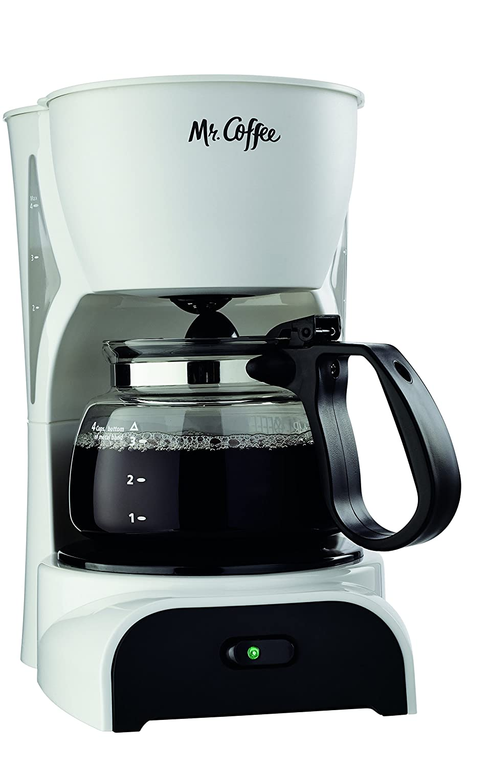Mr. Coffee 4-Cup Coffee Maker, White Jarden Consumer Solutions DR4-RB