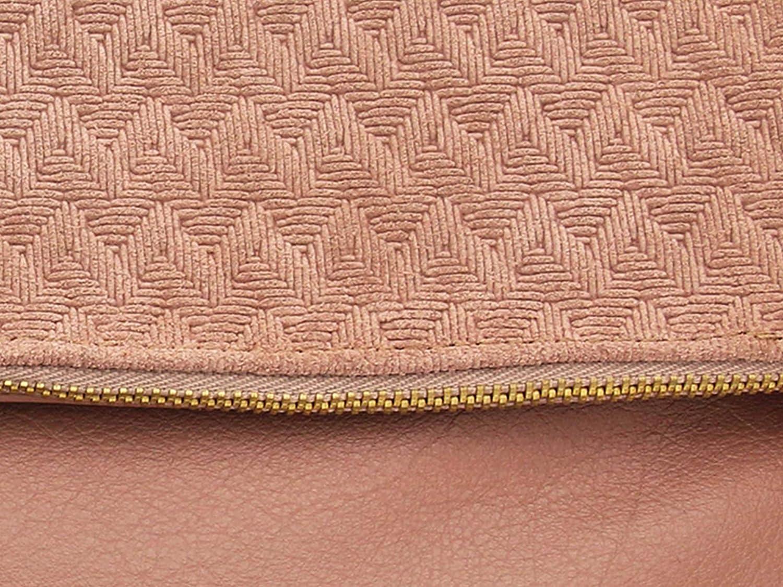 lille mus dam vikväska FINJA med hänge av läder Altrosa/prägling