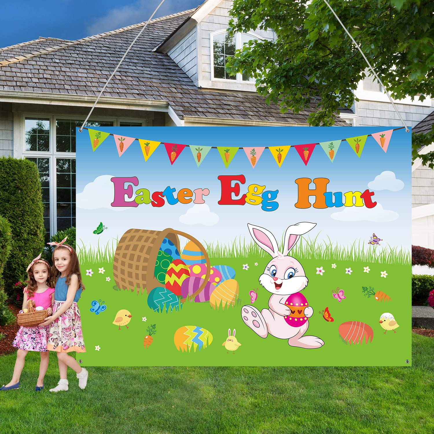 Easter Decorations Easter Banner Extra Large Fabric Bunny And Chick