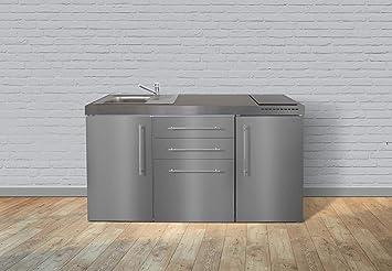 Kühlschrank Schubladen : Stengel steel concept miniküche premiumline mp160 u2013 edelstahlu2013 160cm