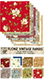 """Paper Pack (24sh 6""""x6"""") Bright Flowers FLONZ Vintage Paper for Scrapbooking and Craft"""