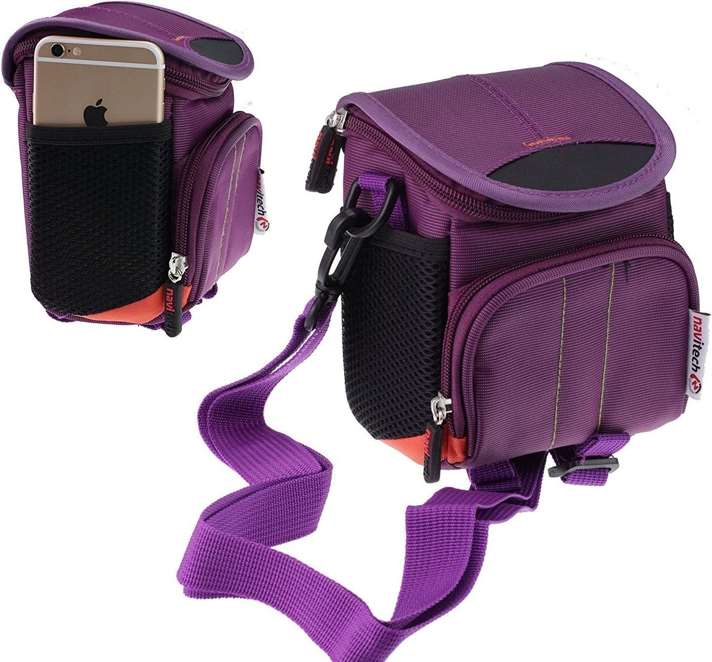 Navitech Purple Digital Camera Case Bag Cover Compatible with TheKINGEAR KG001 2.7 Inch TFT 5X Optical Zoom 15MP 1280 X 960 HD Anti-Shake Smile Capture Digital Video Camera