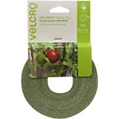 Product Image: VELCRO Brand 91384 ONE-WRAP Supports for Effective Growing | Strong Gardening Grips are Reusable and Adjustable Gentle Plant Ties, 45 ft x 1/2 in, Green