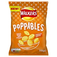 Walkers Poppables Cheddar Cheese Snacks, 110 g