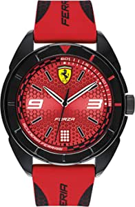 Ferrari Forza, Quartz Plastic and Silicone Strap Casual Watch, Red with Black Detail, Men, 830517