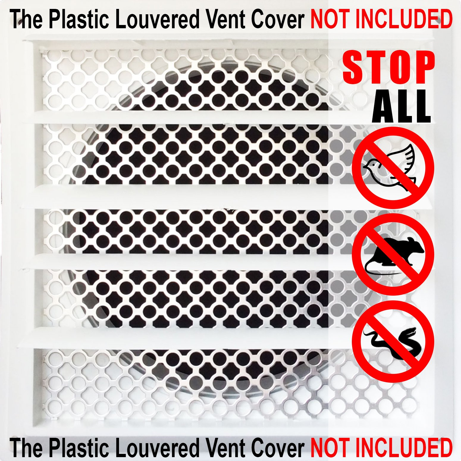 New Aroma Trees Dryer Vent Bird Stop - Dryer Vent Grill - Pest Guard - Stops Birds Nesting In Dryer Vents and Bathroom Exhaust Vents Pipe, Customizable 3'' - 8'' Louver Vent Hood Cover Guard by Aroma Trees (Image #3)