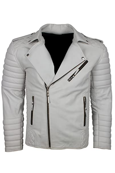 Amazon.com: Chaqueta de cuero para hombre The Jacket Makers ...