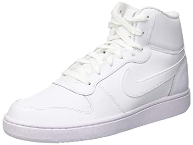 low priced 52d4d d49db Nike Men s Ebernon Mid Casual Sneakers (7, White)