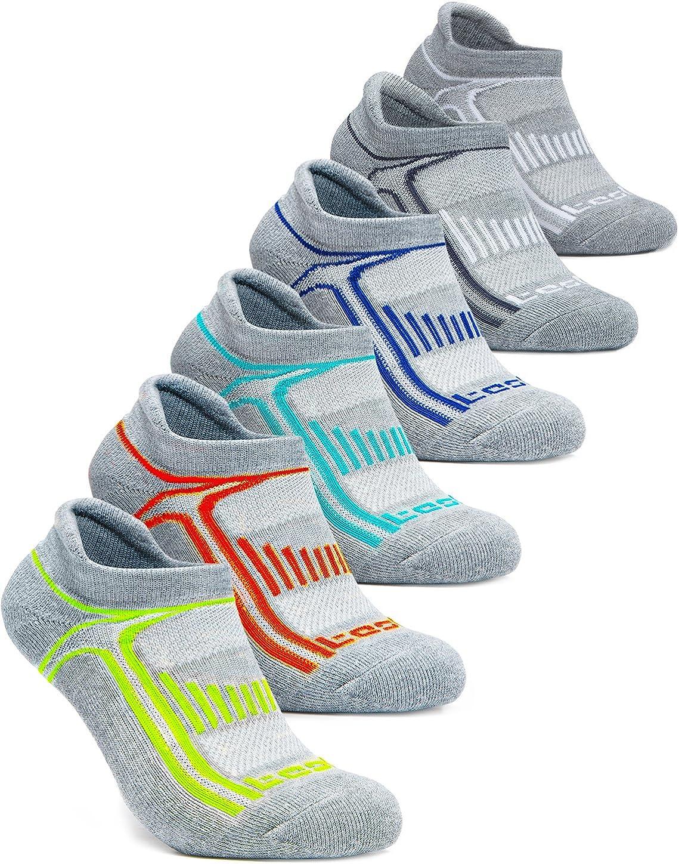 TSLA Women's (Pack of 4, 6) No-Show Casual Fashion Socks w Heel Silicone Grips