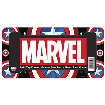 CHROMA 042546 Marvel Captain America Shield Plastic Frame, 1 Pack: Automotive