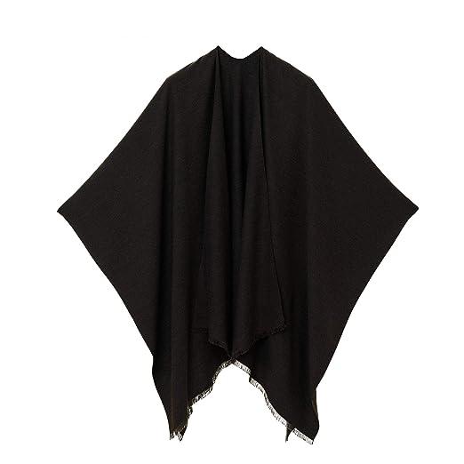 b7253a28c Cardigan Poncho Cape: Women Elegant Cardigan Shawl Wrap Sweater for Fall  Winter