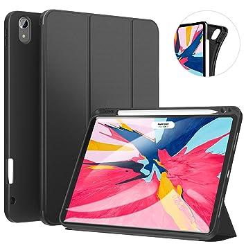 Ztotop Funda para iPad Pro 11 Pulgadas 2018, Ultra Delgada Smart Cover Carcasa con Soporte Incorporado de Pencil- Ligero, Función de ...