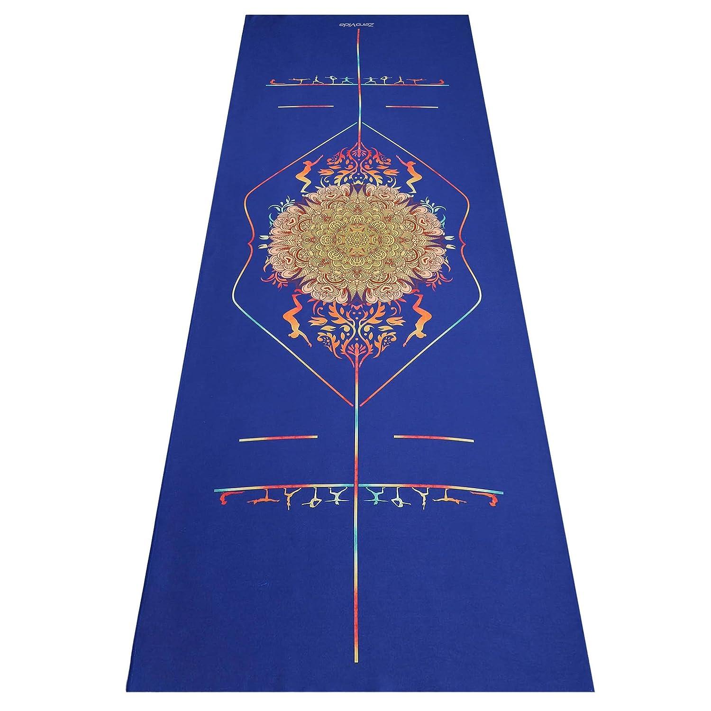 ZeroVida Toalla de Yoga con Líneas de Alineación Toalla Antideslizante para Usar con Esterilla de Yoga Toalla Microfibra para Yoga Ashtanga Fitness ...