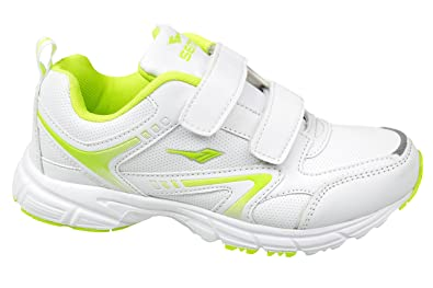 GIBRA® Damen Sportschuhe mit Klettverschluss, weißneongrün