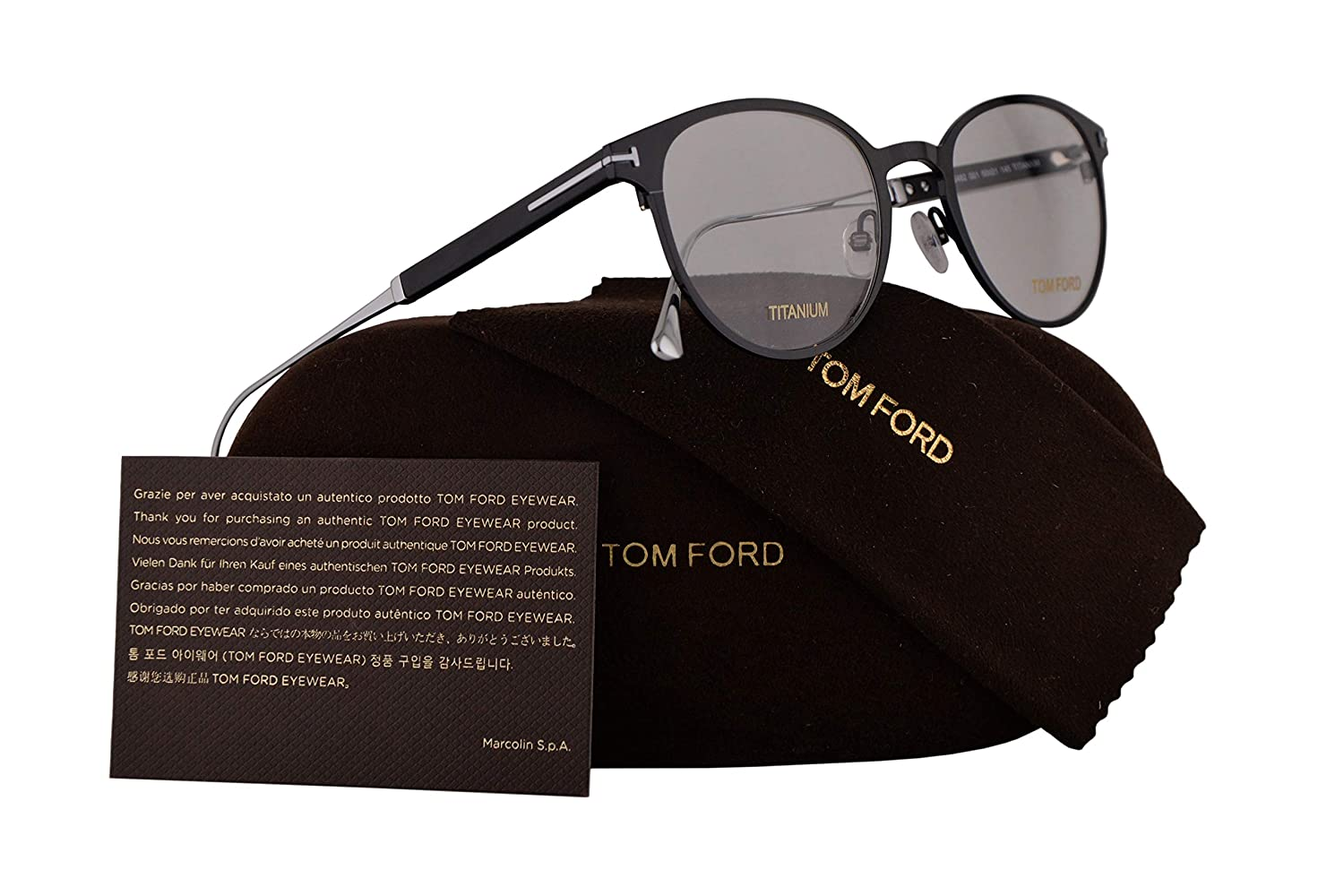 10a838b835 Amazon.com  Tom Ford FT5482 Eyeglasses 50-21-145 Shiny Black w Demo Clear  Lens 001 TF5482 TF 5482 FT 5482  Clothing