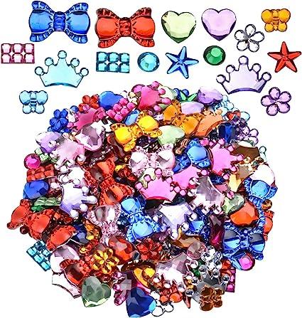 50-200x Flat Back Mixed Color Craft Gems Acrylic Crystals Diamantes Rhinestones