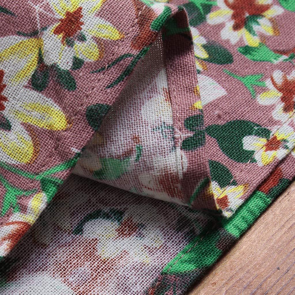 Lloopyting Women's V Neck Plain Dress Sleeveless Summer Dresses Print Breathable Loose Casual Short Sleeve T Shirt Dress by Lloopyting (Image #6)