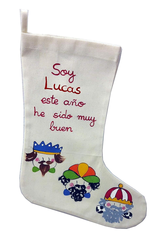 Calcetin Reyes magos personalizado: Amazon.es: Handmade