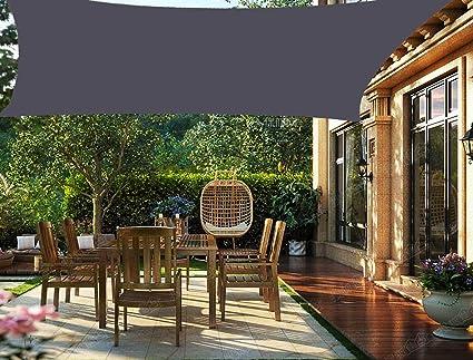 HENG FENG Toldo Vela de Sombra PES Rectangular 2 x 3 m Protección Rayos UV Impermeable Resistente a la Intemperie para Patio Exteriores Jardín Color Antracita: Amazon.es: Jardín