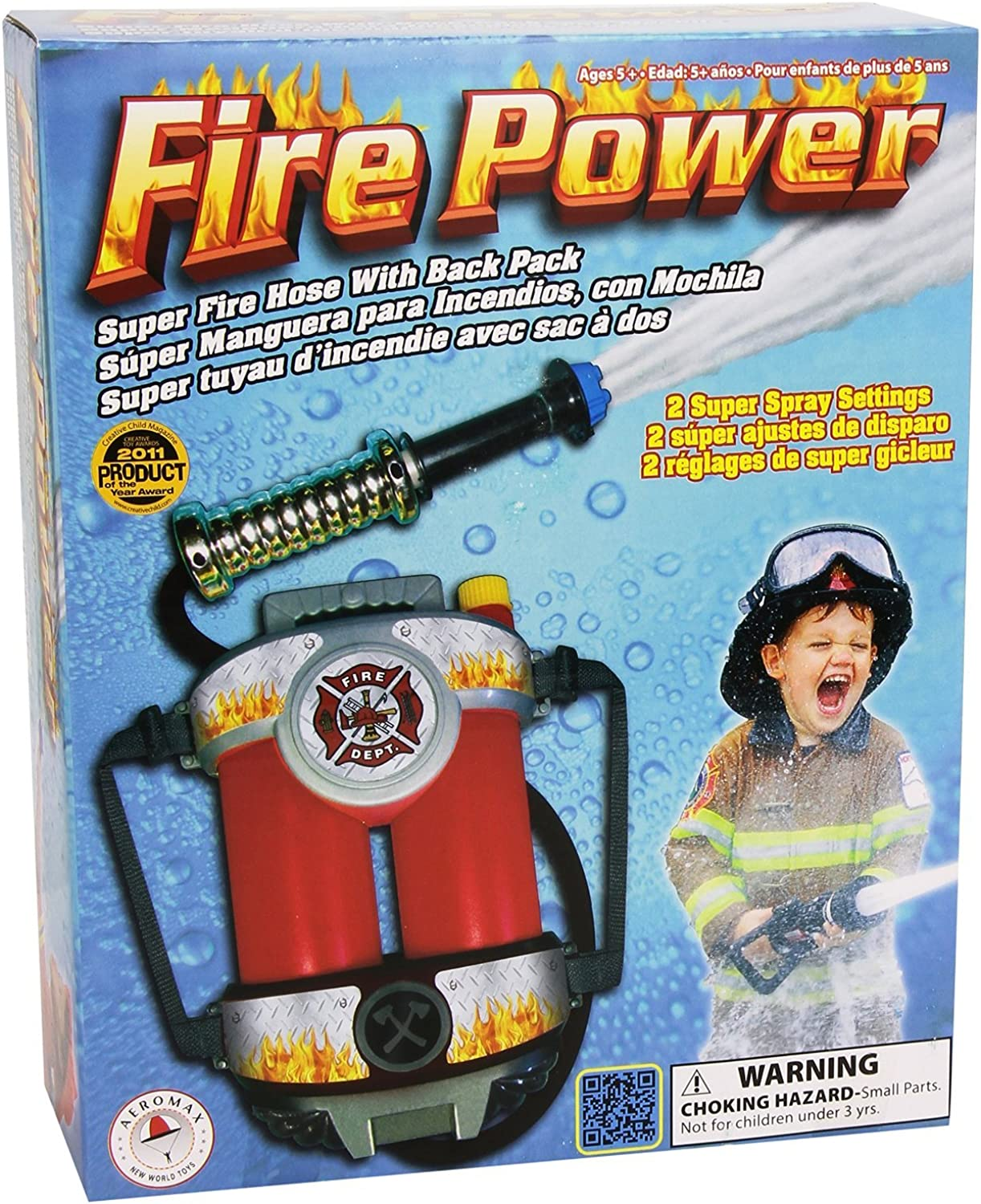 Aeromax Super Soaking Fire Hose Backpack Costume Accessory Child