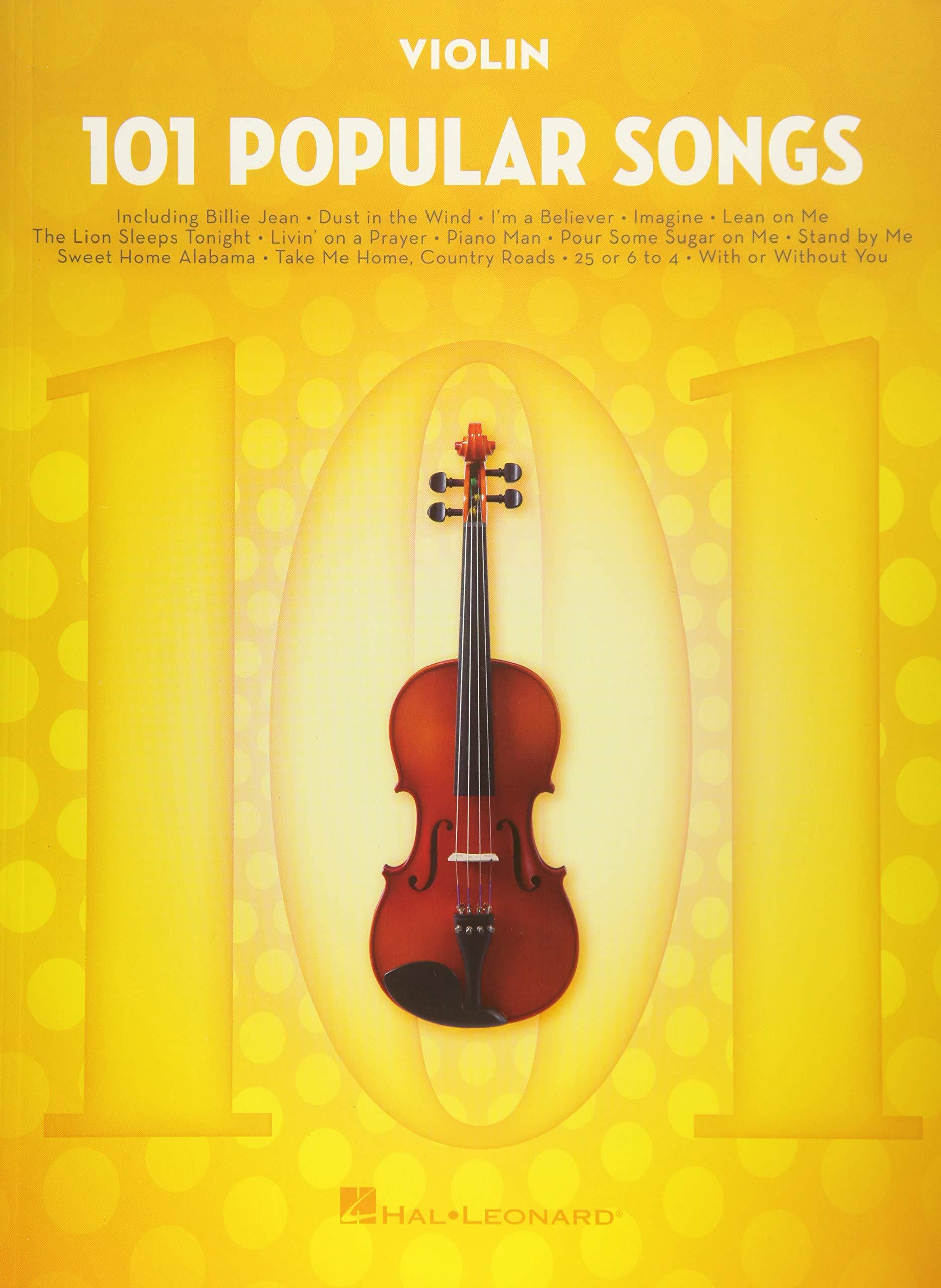 Amazon com: 101 Popular Songs: for Violin (9781495090301): Hal