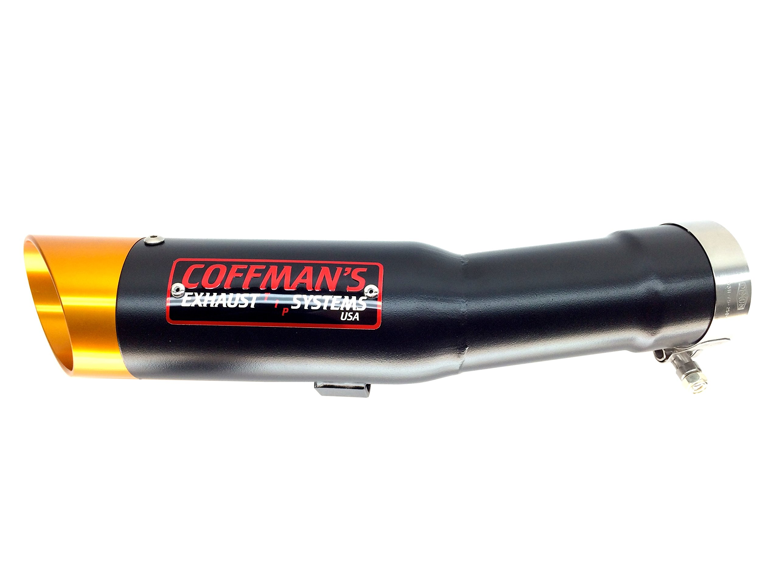Coffman's Shorty Exhaust for Yamaha FZ1 (2006-15) Sportbike with Gold Tip
