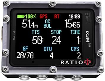 Ratio ix3 m GPS serie ordenador de buceo, ix3M GPS Deep ...