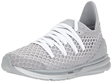 detailed look 364d9 32a0a PUMA Women s Ignite Limitless Netfit NC Wn Sneaker Quarry-Gray Violet  Silver, ...