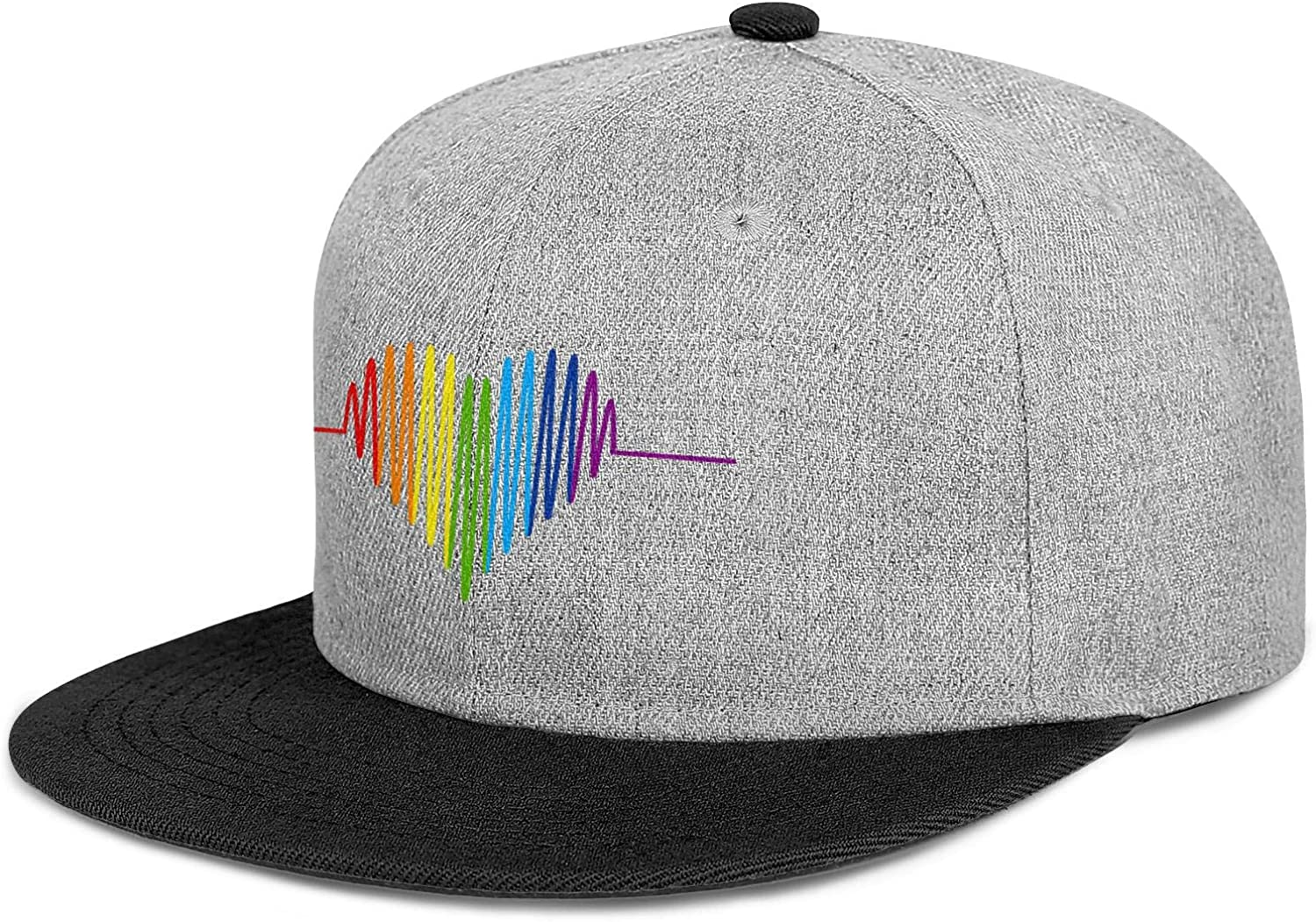 LGBT Heart LGBT Pride Men Women Wool Hip Hop Cap Adjustable Snapback Sun Hat