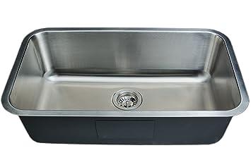 wells sinkware cmu3018 9 18 gauge single bowl undermount kitchen sink stainless steel wells sinkware cmu3018 9 18 gauge single bowl undermount kitchen      rh   amazon com