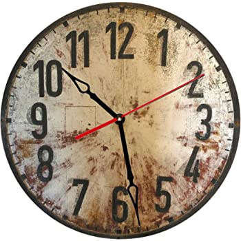 Amazon Com Industrial Rustic Wall Clock Oversized 20