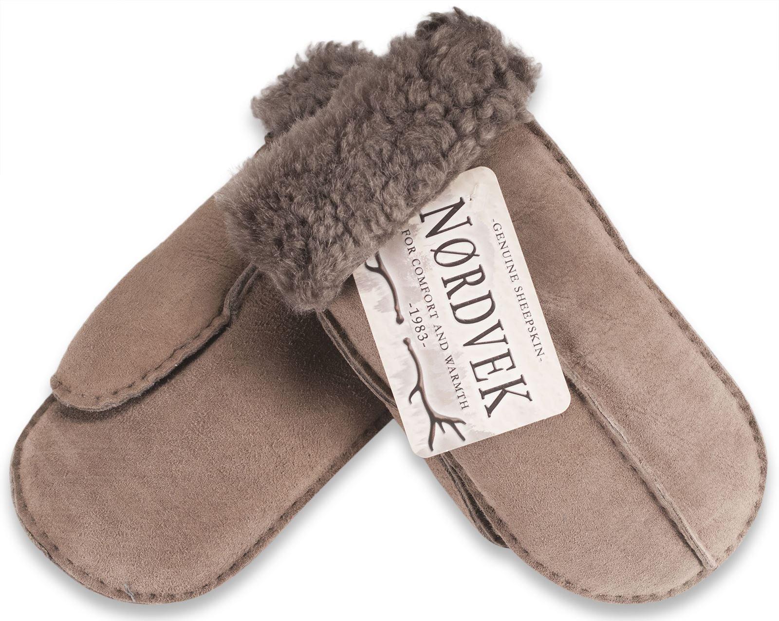 Nordvek Women's Sheepskin Mittens # 315-100 (One Size, Stone)