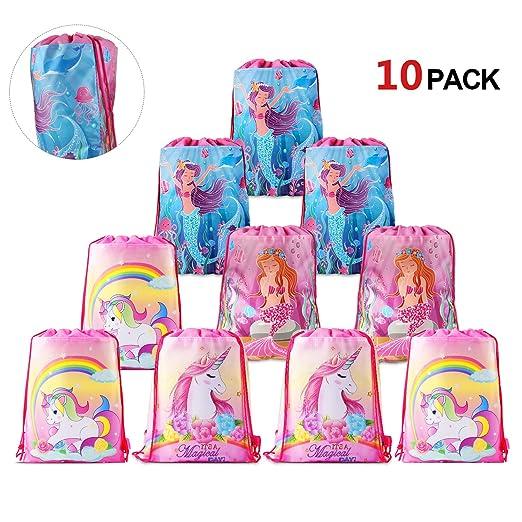 Konsait - Bolsas de fiesta con diseño de sirena y unicornio ...