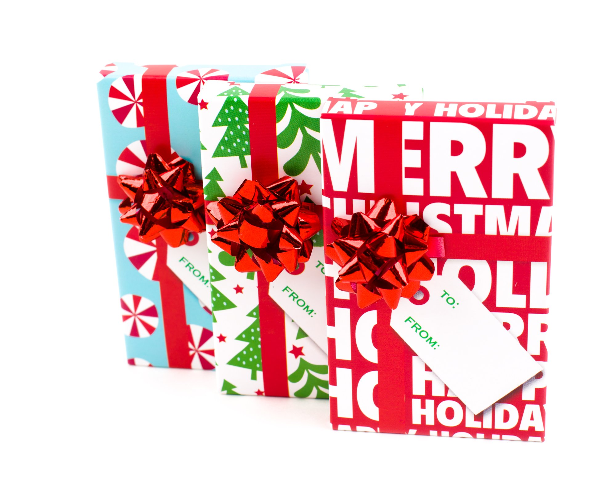Amazon.com: Pack of 4 Christmas Gift Card Holder Box with Decorative ...