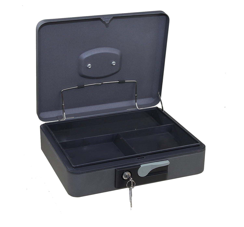 Arregui C9736 Caja de caudales de Acero Grafito con pulsador de Apertura 250x90x180mm 250 x 90 x 180 mm