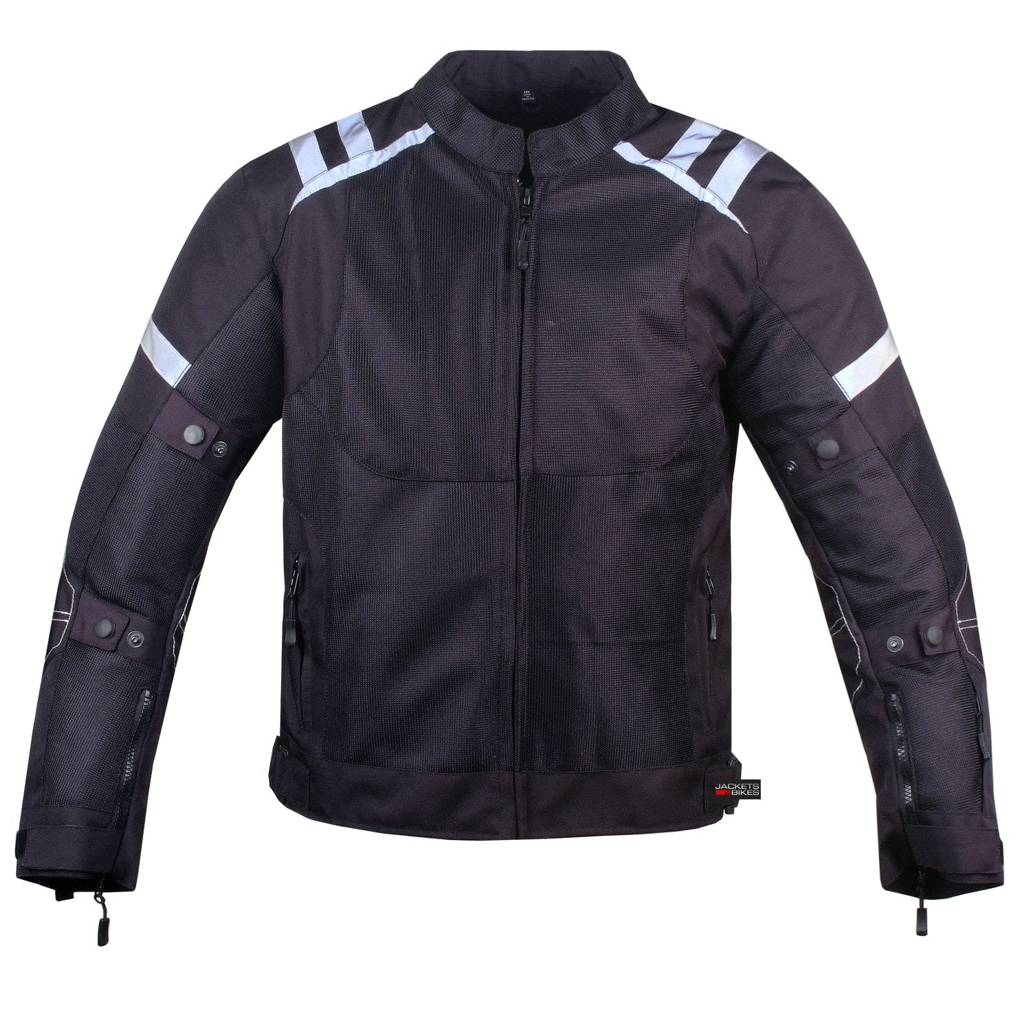 Mens Storm Mesh Summer Armored Reflective Waterproof Black Motorcycle Jacket XXL