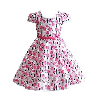 4dac837e437 Cinda Robe en Coton Été Rose pour Fille  Amazon.fr  Vêtements et ...