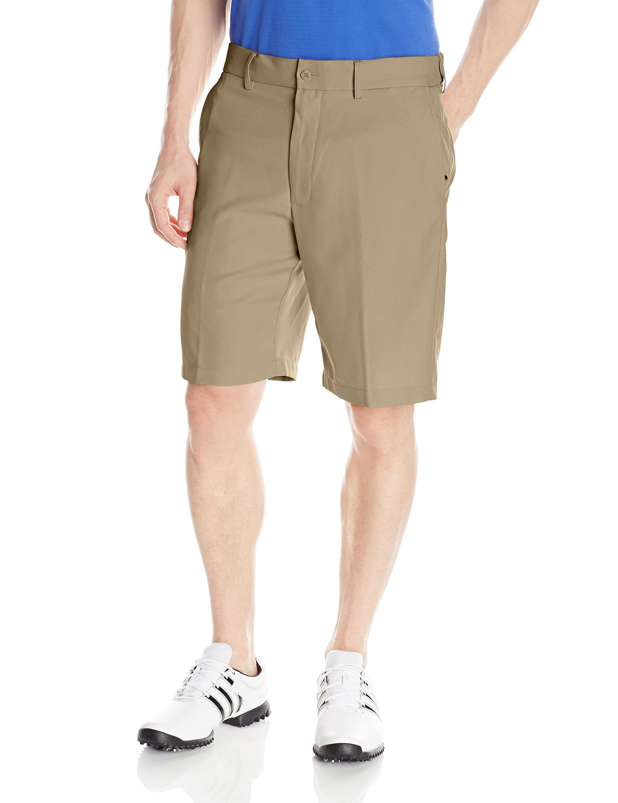 PGA TOUR Men's Expandable Flat Front Short, Chinchilla, 36