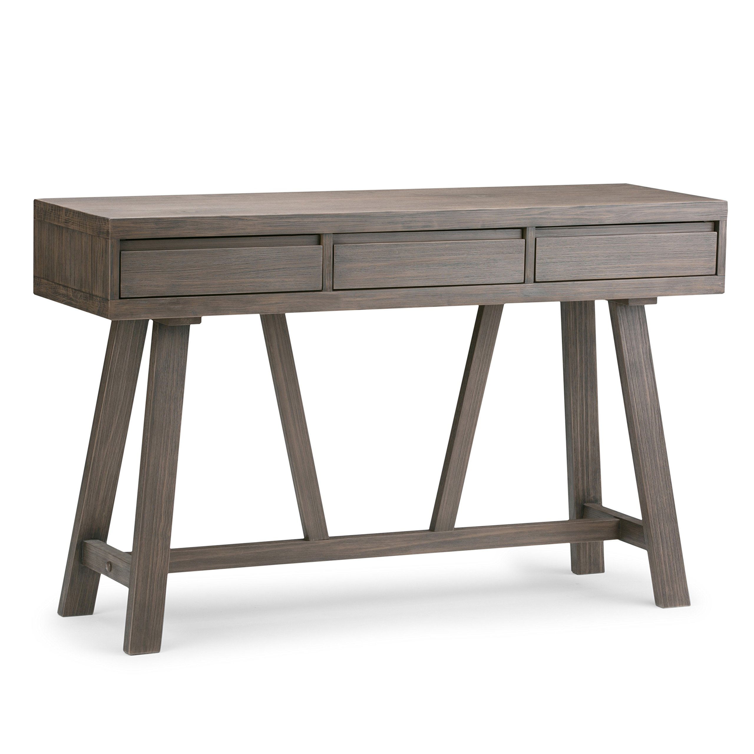 Simpli Home 3AXCDLN-04 Dylan Solid Wood 48 inch Wide Modern Industrial Hallway Console Table in Driftwood by Simpli Home