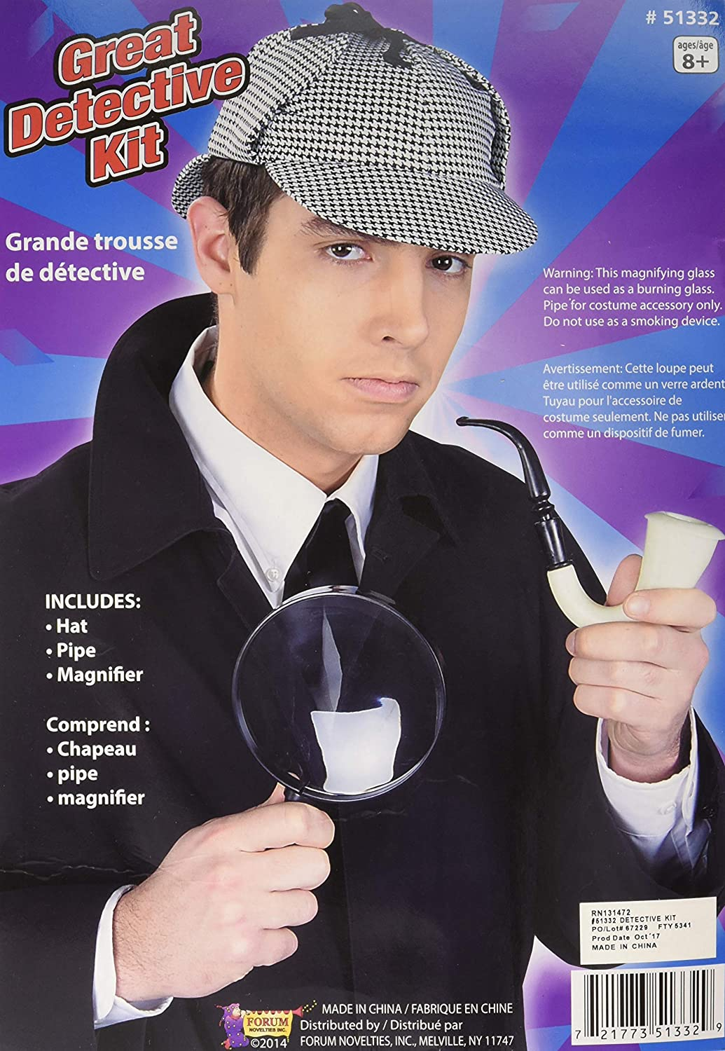 Forum Great Detective Costume Accessory Kit Multi One Size Forum Novelties Costumes 51332
