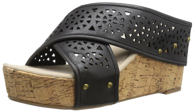 Madeline Women's Devo Platform Sandal B00T8NZMXK 9 B(M) US|Black
