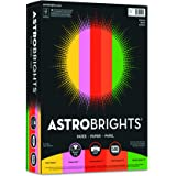 Wausau Paper Astrobrights Colored Paper Assortment, 500-Sheets, 8.5 x 11-Inch (21224)